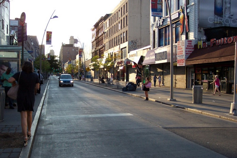 Fulton Mall, Brooklyn, July 2012. Photo: Wayne Fields.